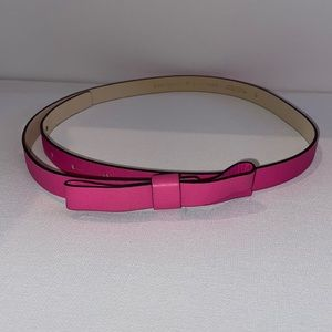 Kate Spade pink bow belt genuine leather size small